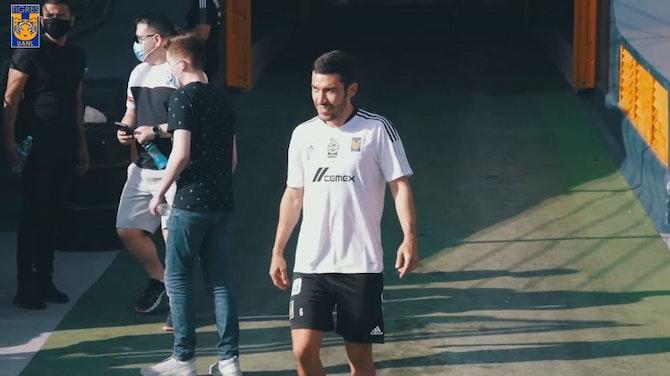Imagen de vista previa para Así fue el primer día de Juan Pablo Vigón como jugador de Tigres