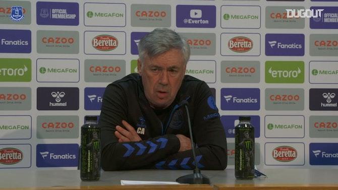 Ancelotti vê evolução do Everton e projeta duelo contra o Tottenham