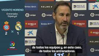 """Imagen de vista previa para Vicente Moreno: """"Siempre es difícil ganarle al Real Madrid"""""""