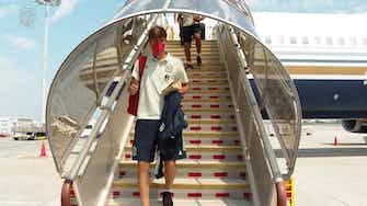 Image d'aperçu pour L'équipe d'Espagne atterrit au Japon en vue des JO de Tokyo 2020.
