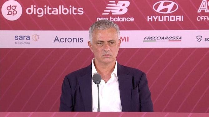 """Vorschaubild für Mourinho in Rom vorgestellt: """"Titel werden kommen"""""""