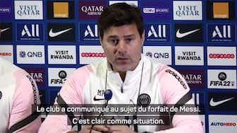 """Image d'aperçu pour PSG - Pochettino : """"Messi ? Tous les grands champions veulent être sur la pelouse"""""""