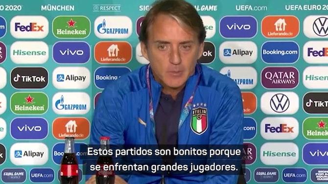 """Imagen de vista previa para Mancini, sobre Hazard y De Bruyne: """"Ojalá puedan estar"""""""