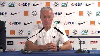 """Image d'aperçu pour Bleus - Deschamps : """"Mbappé et Griezmann sont sereins"""""""
