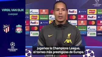 """Imagen de vista previa para Van Dijk: """"No necesitamos ninguna motivación extra contra el Atlético"""""""