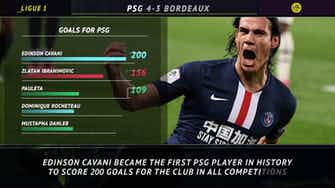 Preview image for 5 Things - Cavani the first PSG player in history to score 200 goals