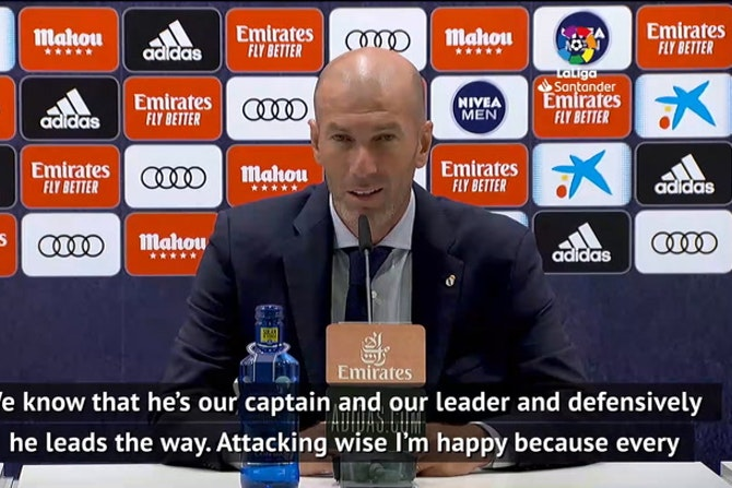 Zidane praises 'leader' Sergio Ramos after free-kick against Mallorca
