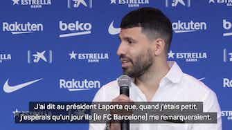 """Image d'aperçu pour Transferts - Agüero : """"Je ne m'y attendais pas"""""""