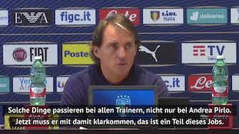 """Vorschaubild für  Mancini zu Pirlo-Krise: """"Muss damit klarkommen"""""""