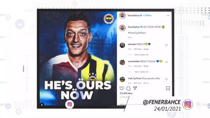 Preview image for Socialeyesed - Ozil joins Fenerbahce