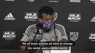 Preview image for 'Emotional' Nani praises MLS players' solidarity with Black Lives Matter movement