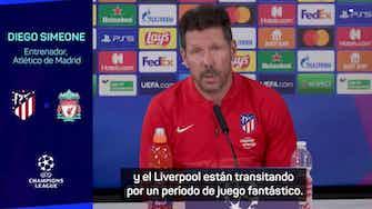 """Imagen de vista previa para Simeone: """"Da gusto ver jugar al Liverpool"""""""