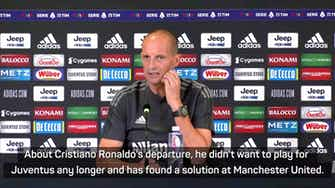 Preview image for 'Juve wish Cristiano all the best, but life goes on' - Allegri on Ronaldo