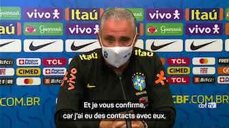 """Image d'aperçu pour Brésil - Tite : """"Les joueurs de Premier League voulaient être là"""""""
