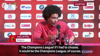 Preview image for Witsel plays tricky game of Would You Rather with journalist