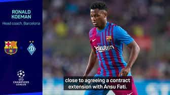 Preview image for Ansu Fati 'close' to agreeing contract extension - Koeman