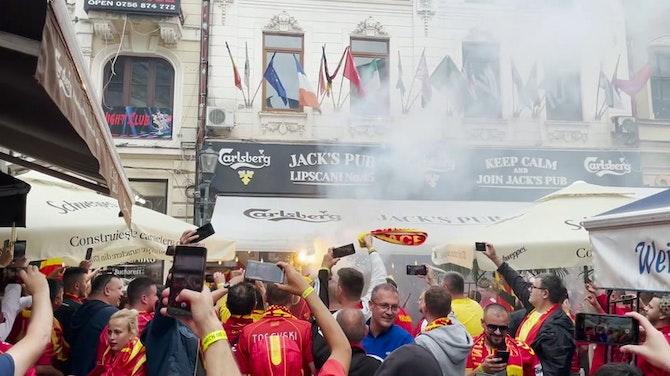 Nordmazedonier übernehmen Bukarest vor Anpfiff