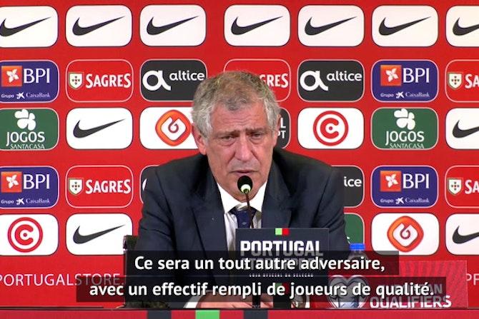 """Portugal - Santos : """"Progresser dans certains aspects du jeu contre la Serbie"""""""