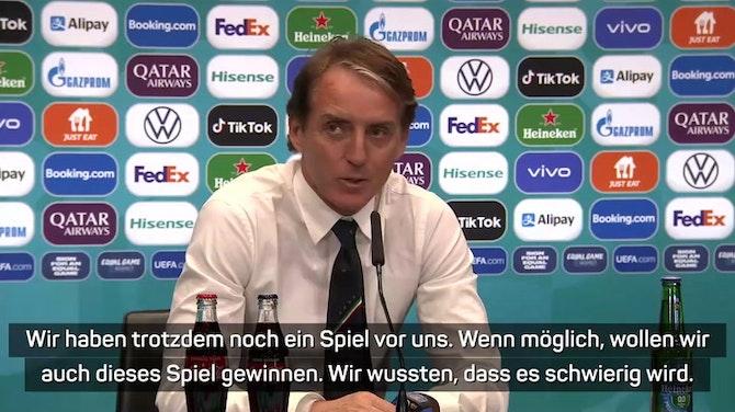 """Vorschaubild für Mancini: """"Haben noch ein Spiel vor uns"""""""