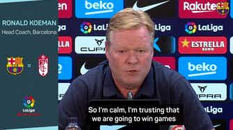 Preview image for  Koeman not worried about his Barca future amid criticism