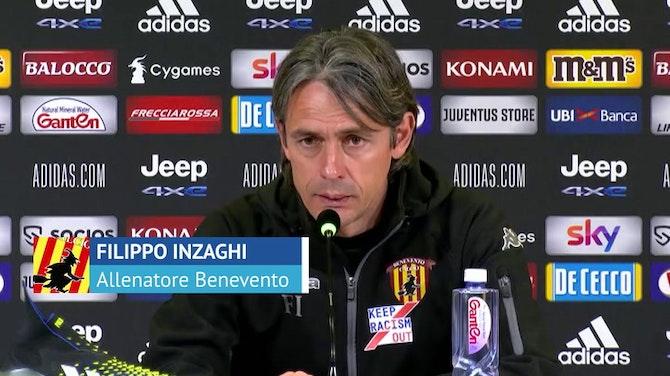 """Pippo Inzaghi e i quattro punti con la Juve: """"Straordinario. Come noi"""""""