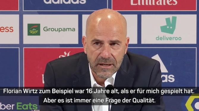 Vorschaubild für Bosz: Habe auch mit Bayer junge Spieler trainiert