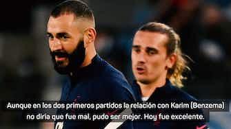 """Imagen de vista previa para Deschamps: """"Benzema y Griezmann hablan el mismo fútbol"""""""