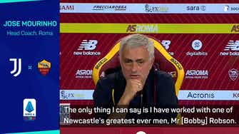 Preview image for Mourinho admits 'emotional link' with Newcastle, but insists he is happy at Roma