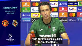 Preview image for 'Man Utd are favourites in Champions League group' - Unai Emery