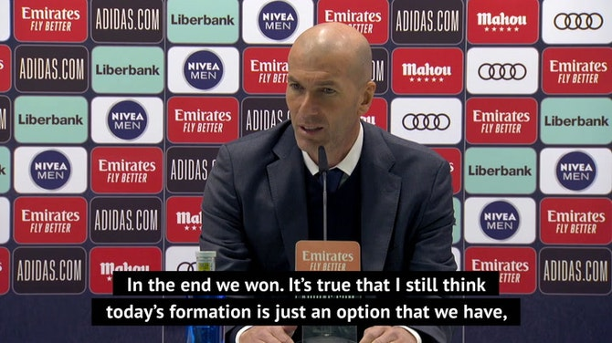 Preview image for 'In the end we won' - Zidane defends Real formation with result
