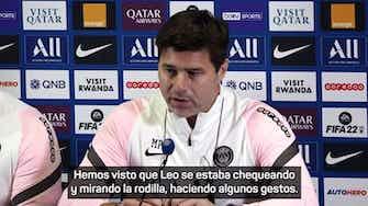 """Imagen de vista previa para Pochettino y el cambio de Messi: """"Estaba haciendo algunos gestos"""""""