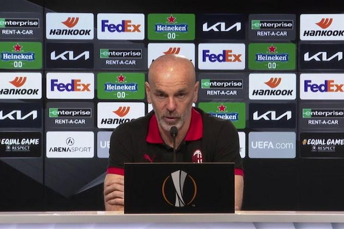 """Milan, Pioli: """"Mandzukic è pronto e i tifosi della Stella Rossa…"""""""