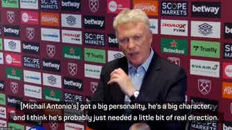 Preview image for Moyes expecting more goals from 'big personality' Antonio