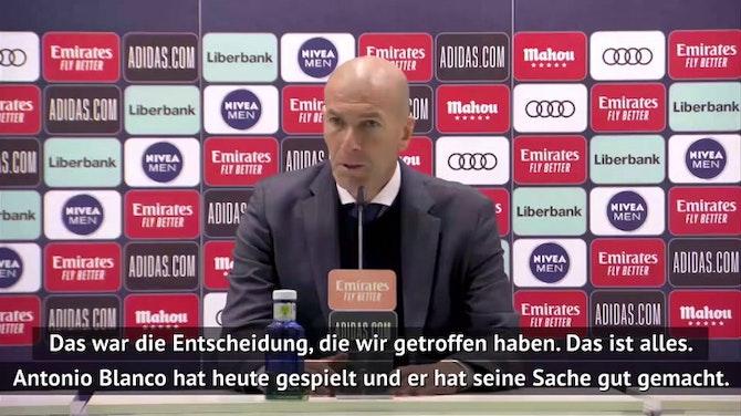 Vorschaubild für Zidane: Darum hat Kroos nicht gespielt