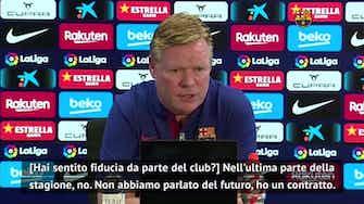 """Anteprima immagine per Koeman e il futuro al Barcellona: """"Non sento fiducia, non abbiamo parlato"""""""
