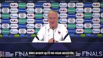 """Image d'aperçu pour Demies - Deschamps : """"Je ne sais pas ce qu'a dit Mbappé"""""""