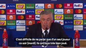 """Image d'aperçu pour Groupe D - Ancelotti : """"Un match qui nous donne beaucoup de confiance"""""""