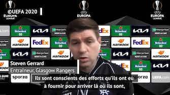 """Image d'aperçu pour 16es - Gerrard : """"Pas de craintes à avoir"""" avant d'affronter le Royal Antwerp"""
