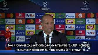 """Image d'aperçu pour Juventus - Allegri : """"Nous sommes tous responsables"""""""