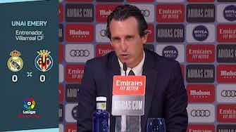 """Imagen de vista previa para Emery, tras el empate ante el Real Madrid: """"Somos capaces de mirar a los ojos a estos equipos"""""""