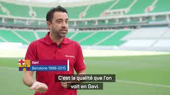 Image d'aperçu pour Barcelone - Xavi bluffé par le talent de Gavi