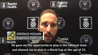 Preview image for Higuain 'grateful' for Maradona's influence on his career