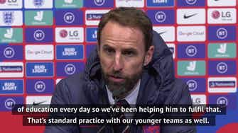 Preview image for Southgate pleased with Bellingham debut against Ireland