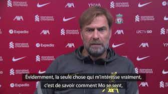 """Image d'aperçu pour Liverpool - Klopp n'est """"pas impliqué"""" dans les discussions pour la prolongation de Salah"""