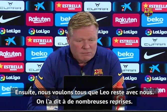 """Barça - Koeman : """"L'offre du PSG pour Messi ? Cela ne m'intéresse pas"""""""