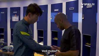 Imagem de visualização para Son distribui cards do FIFA 22 no Tottenham; veja a reação de Lucas