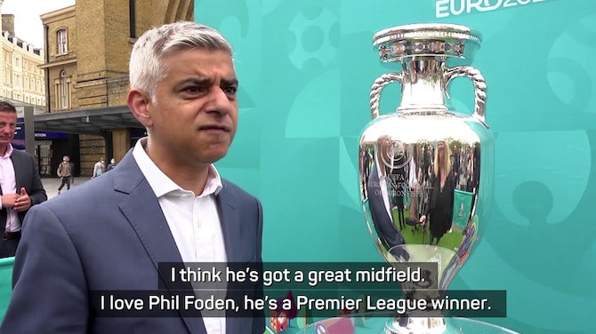 Preview image for  Sadiq Khan compares England squad to greats ahead of Euro 2020