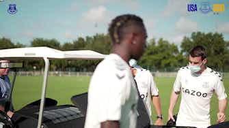 Image d'aperçu pour James Rodriguez et Everton se préparent en Floride
