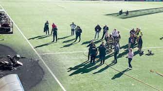 Imagen de vista previa para  Incendio en el estadio de Andorra antes de su juego clasificatorio ante Inglaterra