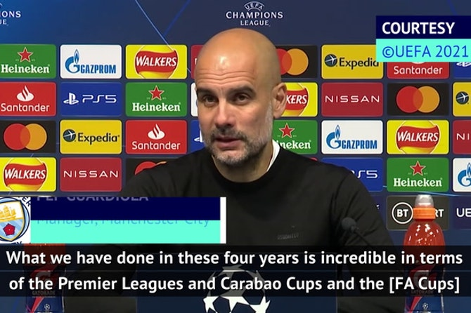 Guardiola celebrates 'incredible' Man City journey after reaching Champions League final